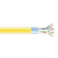 CAT5e 350-MHz Solid Ethernet Bulk Cable - Shielded (F/UTP), CMP Plenum, 1000-ft. (304.8-m) Spool