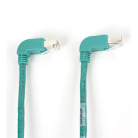 SpaceGAIN CAT6 250-MHz Molded Angled Stranded Ethernet Patch Cable - Shielded (S/FTP), CM PVC (RJ45 M/M)