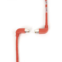 SpaceGAIN CAT6 Shielded, Stranded 250-MHz Angled Patch Cable (SSTP, PIMF), 90° Down–90° Up, Red, 6-ft. (1.8-m)