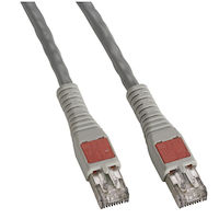 CAT6A 500-MHz High-Density Data Center Stranded Ethernet Patch Cable - Unshielded, PVC, Gray, 15-ft.