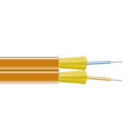 OM1 62.5-Micron Multimode Fiber Optic Bulk Cable - Indoor, Zip-Cord, PVC, OFNR