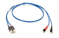 OM1 62.5-Micron Multimode Fiber Optic Patch Cable - ST-SC, Blue, 1-m
