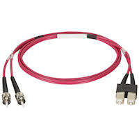 OM1 62.5-Micron Multimode Fiber Optic Patch Cable - ST-SC, 3-m