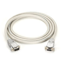 RS232 Shielded Null Modem Cable - Metal Hood, DB9 Male/Male, 6-ft.