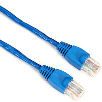 CAT5e 350-MHz Solid Conductor Backbone Cable - 24 AWG, 4-Pair, T568B, PVC, NEC CM, Cross-Pinned, Blue, 2-ft. (0.6-m)