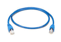 CAT5e 350-MHz Solid Conductor Backbone Cable - Unshielded, PVC, Straight-Pinned, Blue, 2-ft. (0.6-m)