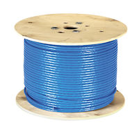 CAT7 1000-MHz Solid Ethernet Bulk Cable - Shielded (S/FTP), CMR PVC, 1000-ft. (304.8-m) Spool
