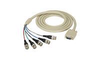 VGA-RGBHV Cable, (1) HD15 Male/(5) BNC, PVC, 6-ft. (1.8-m)