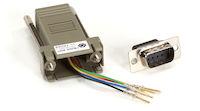 Modular Adapter Kit - DB9 Male to RJ11 Female