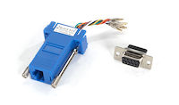 Modular Adapter Kit DB9F To RJ45F W/ Thumbscrews Blue