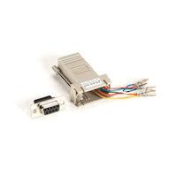 Modular Adapter Kit DB9F To RJ-45F W/ Thumbscrews Gray