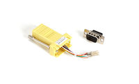 DB9 Male to RJ45F Modular Adapter Kit with Thumbscrews Yellow