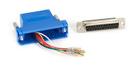 Modular Adapter Kit DB25F To RJ45F W/ Thumbscrews Blue