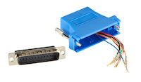 Modular Adapter Kit - DB25M to RJ45F with Thumbscrews Blue