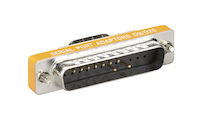 RS232 Serial Slimline Adapter DB9 Male To DB25 Male