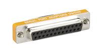 RS-232 Serial Slimline Adapter - DB9 Female to DB25 Female
