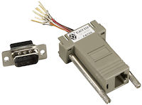 Modular Adapter Kit - DB9 Male to RJ45 Female, 8-Wire