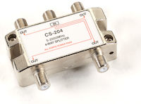 2-GHz Cable/Satellite TV Signal Splitter - (1) In, (4) Out