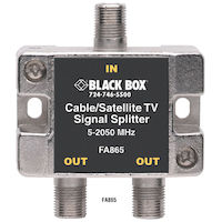 Cable/Satellite TV Signal Splitter - 2-GHz, 1–2