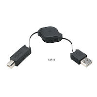 Retractable USB Cable - Type A Male To Type B Male, 4-ft.