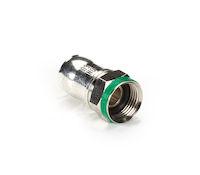 Coax Compression Connector - RG6, Quad Shield, F-Type, PVC