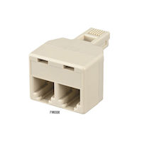 Modular Adapter RJ-11 4/6 Wire Straight-Pinned