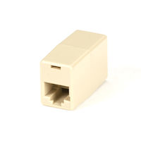 Modular Coupler RJ-45 8-Wire Straight-Pinned