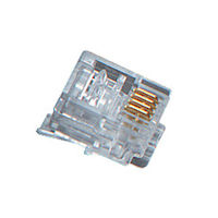 RJ11 Modular Connector - 4-Wire, for Stranded Wire, 100-Pack