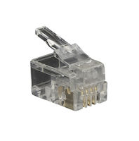 Modular Handset Connector RJ-22 25-Pack