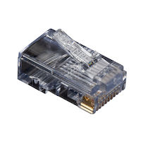RJ45 Modular Plug For Round Stranded Cable - 10-Pack