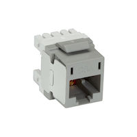 Cat6A Unshielded RJ45 Keystone Jack Gray