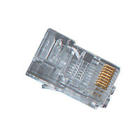 RJ45 Modular Plug for Round Solid Cable - 25-Pack