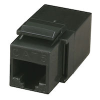 CAT5e Coupler - Unshielded, Black
