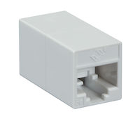 Cat5E Unshielded Straight-Pin Coupler White