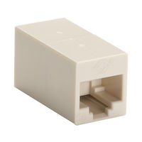 CAT5e Coupler - Unshielded, Straight-Pin, Beige, 10-Pack