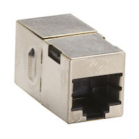 Cat5E Shielded Straight-Pin Coupler Silver