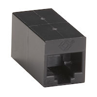 Cat5E Unshielded Straight-Pin Coupler Black