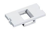 Modular Wallplate Module 1 RJ45 White 1U