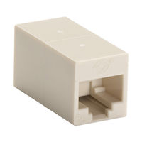 CAT5e Unshielded Cross-Pin Coupler - Beige, 10-Pack