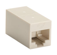 Cat5E Unshielded CroSS-Pin Coupler Beige