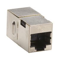 Cat5E Shielded CroSS-Pin Coupler Silver 10-Pack