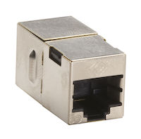 Cat5E Shielded CroSS-Pin Coupler Silver