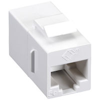 CAT5e Unshielded Straight-Pin Keystone Coupler - White, 10-Pack