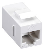 Cat5E Unshielded Straight-Pin Keystone Coupler White