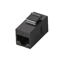 CAT5e Coupler - Unshielded, Straight-Pin, Black