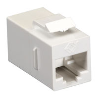 Cat5E Unshielded CroSS-Pin Keystone Coupler White 10-Pack