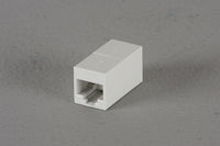 CAT6 Unshielded Straight-Pin Coupler - White, 10-Pack