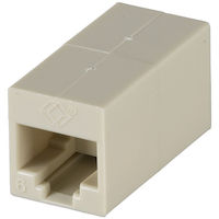 Cat6 Unshielded Straight-Pin Coupler Office White 10-Pack