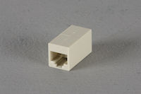 Cat6 Unshielded Straight-Pin Coupler White