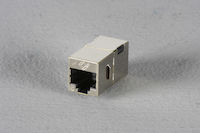 Cat6 Shielded Straight-Pin Coupler Office Silver